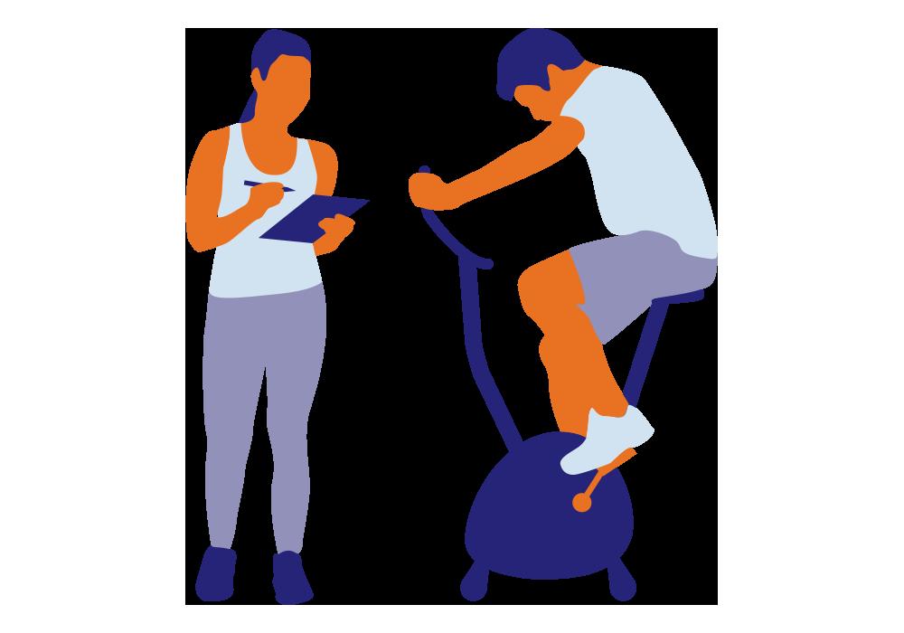 illustration coach et sportif