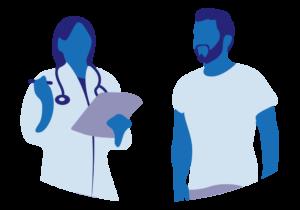illustration médecin et patient